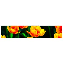 Yellow Orange Tulip Flowers Small Flano Scarf by FunnyCow