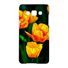 Yellow Orange Tulip Flowers Samsung Galaxy A5 Hardshell Case  by FunnyCow
