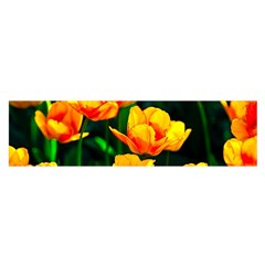 Yellow Orange Tulip Flowers Satin Scarf (oblong) by FunnyCow