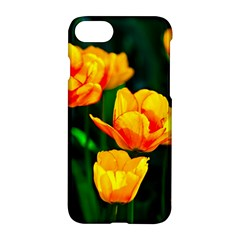 Yellow Orange Tulip Flowers Apple Iphone 7 Hardshell Case by FunnyCow