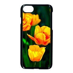 Yellow Orange Tulip Flowers Apple Iphone 8 Seamless Case (black) by FunnyCow