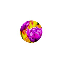 Violet Tulip Flowers 1  Mini Buttons by FunnyCow