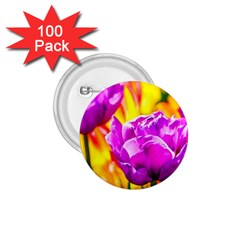 Violet Tulip Flowers 1 75  Buttons (100 Pack)  by FunnyCow