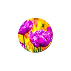 Violet Tulip Flowers Golf Ball Marker by FunnyCow