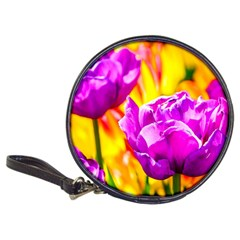 Violet Tulip Flowers Classic 20 Cd Wallets by FunnyCow