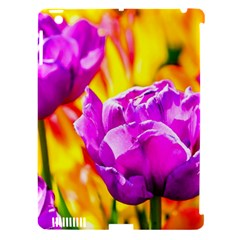 Violet Tulip Flowers Apple Ipad 3/4 Hardshell Case (compatible With Smart Cover) by FunnyCow