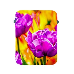 Violet Tulip Flowers Apple Ipad 2/3/4 Protective Soft Cases by FunnyCow