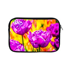 Violet Tulip Flowers Apple Ipad Mini Zipper Cases by FunnyCow