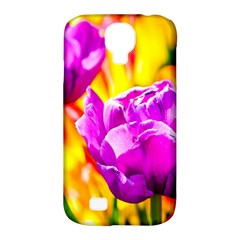 Violet Tulip Flowers Samsung Galaxy S4 Classic Hardshell Case (pc+silicone) by FunnyCow