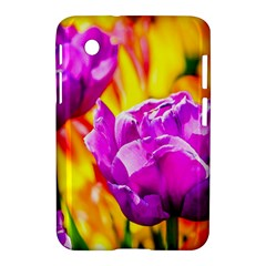 Violet Tulip Flowers Samsung Galaxy Tab 2 (7 ) P3100 Hardshell Case  by FunnyCow