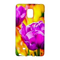Violet Tulip Flowers Samsung Galaxy Note Edge Hardshell Case
