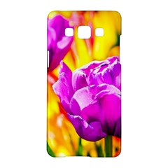 Violet Tulip Flowers Samsung Galaxy A5 Hardshell Case