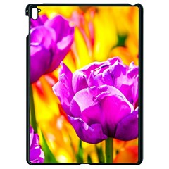 Violet Tulip Flowers Apple Ipad Pro 9 7   Black Seamless Case by FunnyCow