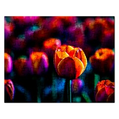 Red Tulips Rectangular Jigsaw Puzzl by FunnyCow