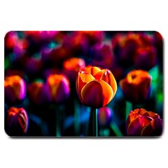 Red Tulips Large Doormat  by FunnyCow