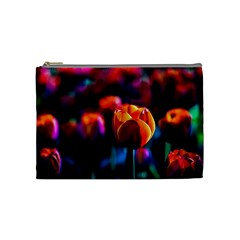 Red Tulips Cosmetic Bag (medium) by FunnyCow