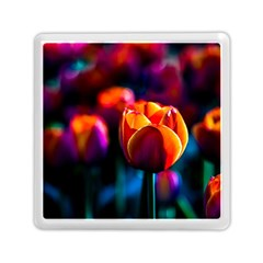 Red Tulips Memory Card Reader (square) by FunnyCow