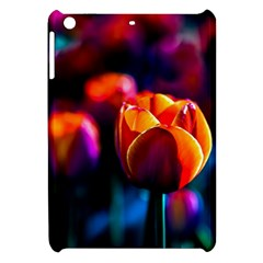 Red Tulips Apple Ipad Mini Hardshell Case by FunnyCow