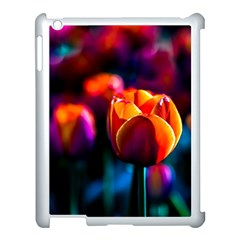 Red Tulips Apple Ipad 3/4 Case (white) by FunnyCow
