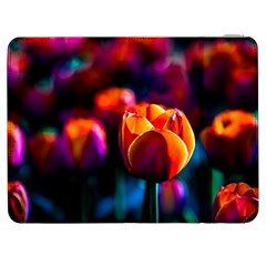 Red Tulips Samsung Galaxy Tab 7  P1000 Flip Case by FunnyCow