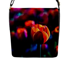 Red Tulips Flap Closure Messenger Bag (l)