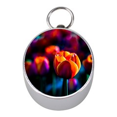 Red Tulips Mini Silver Compasses by FunnyCow