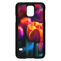 Red Tulips Samsung Galaxy S5 Case (black) by FunnyCow