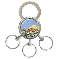 Cat And Butterflies 3 Ring Key Chains by snowwhitegirl