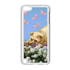 Cat And Butterflies Apple Ipod Touch 5 Case (white)