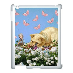 Cat And Butterflies Apple Ipad 3/4 Case (white)