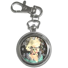 Stained Glass Girl Key Chain Watches by snowwhitegirl