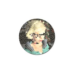 Stained Glass Girl Golf Ball Marker (10 Pack)