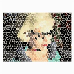 Stained Glass Girl Large Glasses Cloth (2 Side) by snowwhitegirl