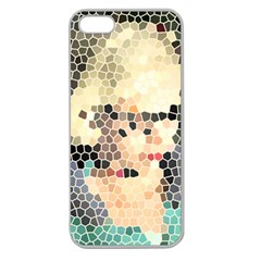 Stained Glass Girl Apple Seamless Iphone 5 Case (clear) by snowwhitegirl