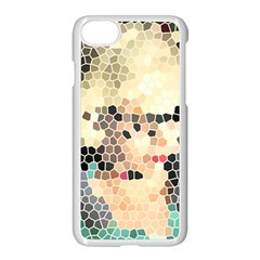 Stained Glass Girl Apple Iphone 7 Seamless Case (white) by snowwhitegirl