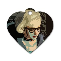 Girl Thinking Dog Tag Heart (one Side)