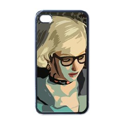 Girl Thinking Apple Iphone 4 Case (black) by snowwhitegirl
