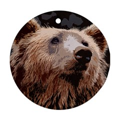 Bear Looking Ornament (round)