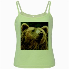 Bear Looking Green Spaghetti Tank