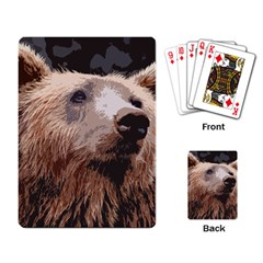 Bear Looking Playing Cards Single Design