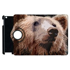 Bear Looking Apple Ipad 2 Flip 360 Case by snowwhitegirl