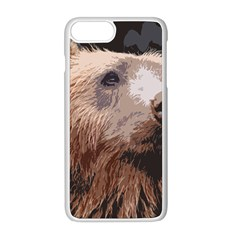 Bear Looking Apple Iphone 8 Plus Seamless Case (white)