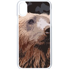 Bear Looking Apple Iphone X Seamless Case (white)