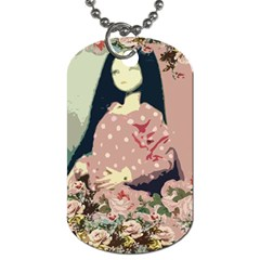 Rose Floral Doll Dog Tag (two Sides)