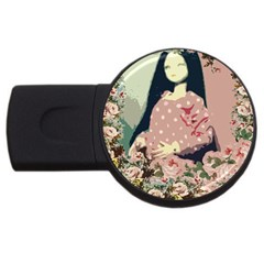 Rose Floral Doll Usb Flash Drive Round (2 Gb)