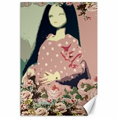 Rose Floral Doll Canvas 20  X 30  by snowwhitegirl