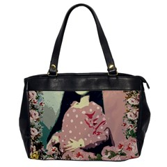Rose Floral Doll Oversize Office Handbag by snowwhitegirl