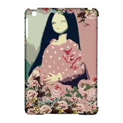 Rose Floral Doll Apple Ipad Mini Hardshell Case (compatible With Smart Cover)