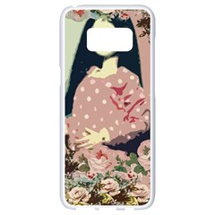 Rose Floral Doll Samsung Galaxy S8 White Seamless Case by snowwhitegirl