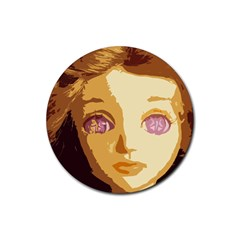 Butterfly Eyes Rubber Round Coaster (4 Pack)
